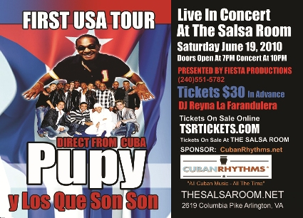Pupy y Los Que Son Son in Arlingon, VA