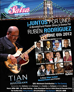 Benefit Concert for reknown bassist Rubén Rodríguez