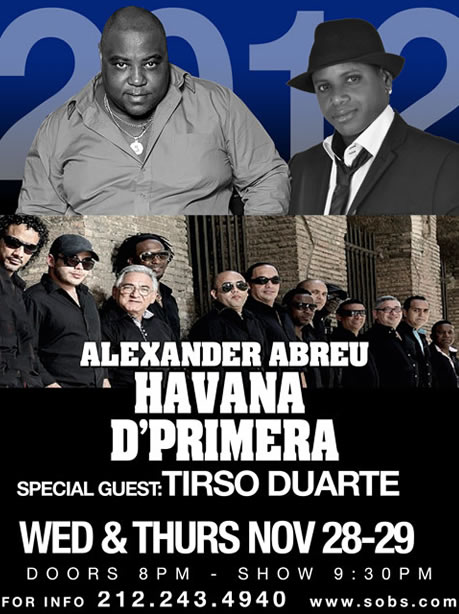 El Charanguero Mayor Tirso Duarte Replaces Charanga at SOBs Tonight