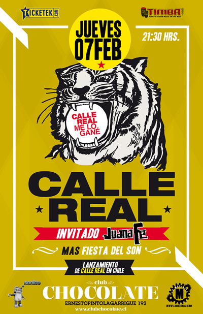 Calle real South America Tour 2013