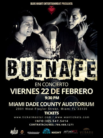 Buena Fe @ Miami Dada County Auditorium Feb 22, 2013