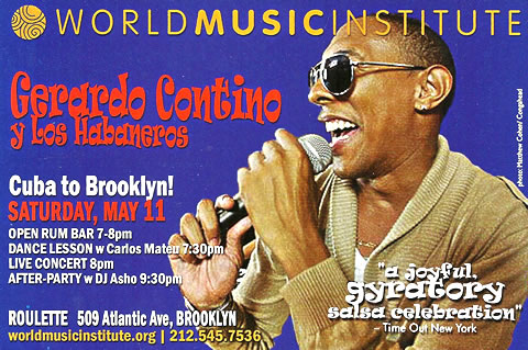 Ex-NG La Banda Singer GERARDO CONYINO plus special guests May 11 New York City