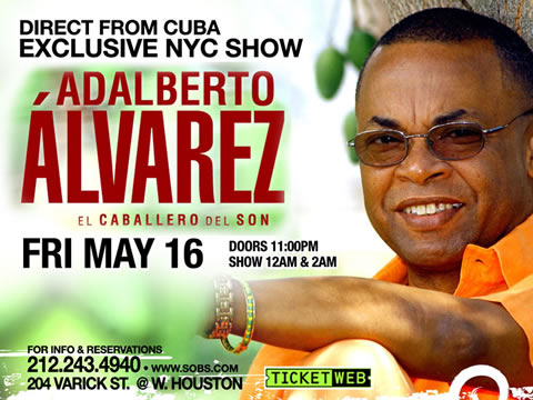 Adalberto Álvarez - S.O.B.s NYC - Friday April 16 2014 - Cuban Music News