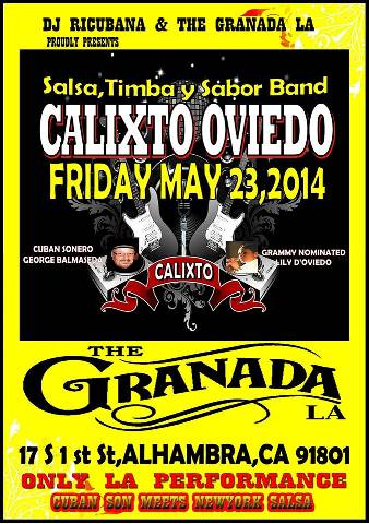 master drummer calixto oviedo will be performing may 23rd at the
