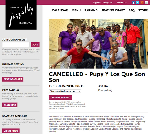 Pupy y los Que Son Son canceled in Seattle & San Francisco - Cuban Music News (TIMBA.com)