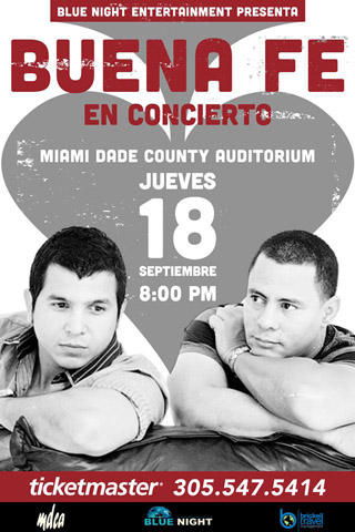 Buena Fe @Miami Dade County Auditorium September 18 2014