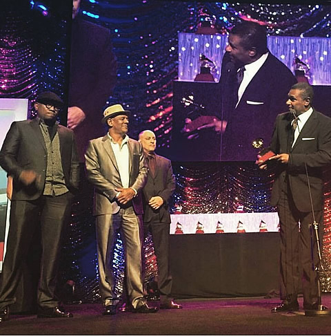 José Alberto El Canario accepts and thanks el Septeto Santiaguero for their Latin Grammy Award®
