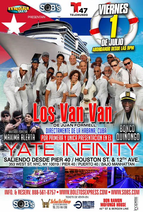 Los Van Van in New York - Infinity Yacht