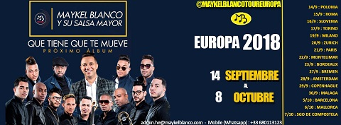 Maykel Blanco y Su Salsa Mayor Europe 2018