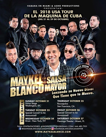 Maykel Blanco y Su Salsa Mayor USA 2018