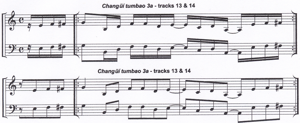 notation example from Beyond Salsa Piano - The Cuban Timba Piano Revolution - by Kevin Moore