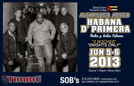 Havana D' Primera U.S.A. Tour 2013 - TIMBA.com Home of Cuban Music
