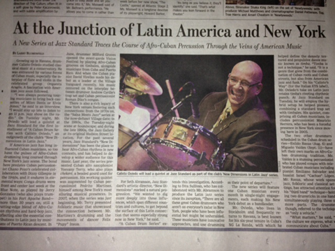 Calixto Oviedo in the Wall Street Journal