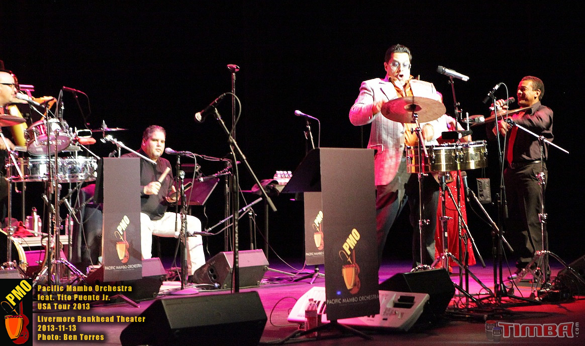 Pacific Mambo Orchestra 2013 USA TOUR feat. Tito Puente Jr.with special guests Marlow Rosado and Willy Torres - Livermore Bankhead Theater - November 13, 2013